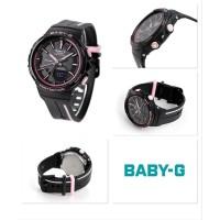 Jam Wanita Casio Baby G BGS-100RT-1A Black Pink Running Series Ori Bm