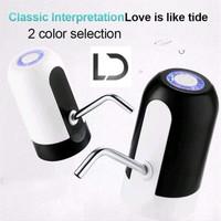 Pompa galon USB LED LAMPU elektrik air minum recharge water dispenser