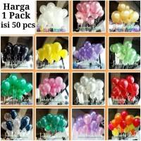 Balon Latex Metalik 1 Pack Isi 50 Pcs / Balon Per Pack / Balon Latek