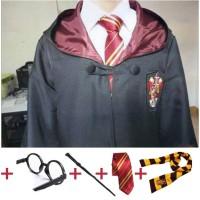 5Pcs Kostum Jubah Cosplay Harry Potter untuk Anak / Dewasa Kostum