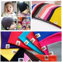 Topi Bayi Anak Unisex Kupluk Bayi Anak Polos Warna