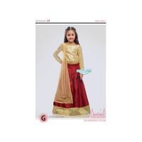 QA137 Setelan Baju India Anak Perempuan Murah Import 2228