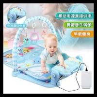 Baby Play Gym Musical Piano Playmat Mainan Bayi - Hijau