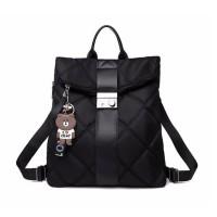 Tas Ransel Wanita Korea Style Import Murah - BLACK HITAM HTI2508