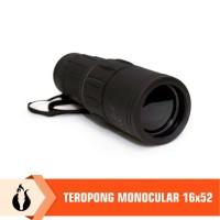 Matougui 16x52 Teropong Monocular Perbesaran 16x Lensa Coating Bening