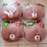 Boneka Bantal Line Brown Cushion Official LINE FRIENDS