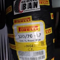 Pirelli 120 / 70 - 17 Angel City ring ukuran 17 ban motor balap