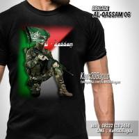 Baju Kaos PALESTINA Brigade AL-QASSAM 06 Free Palestine Pejuang Muslim