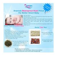 Anannda Beansprout Husk Pillow bantal kulit kacang hijau bayi