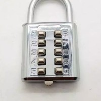 gembok kode 10 angka / koper / tas / kunci rumah / gembok / pagar