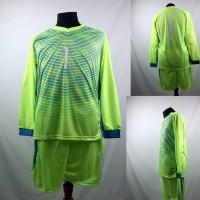Setelan Baju/Kaos Sepak Bola/Futsal Tim Premium Dewasa Kiper Hijau