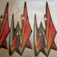 stiker stripping stripping motor yamaha RX king 2002 hitam lis merah