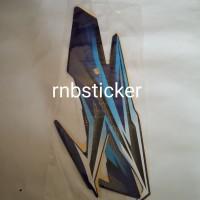 stiker stripping motor yamaha RX king 2005 biru lis putih