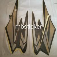 stiker stripping stripping motor yamaha RX king 2002 lis hijau