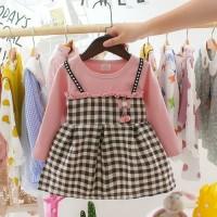 baju anak / dress anak perempuan motif kotak