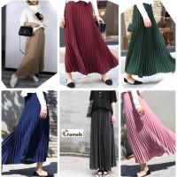 Chamele - Ayana Rok plisket panjang / pleated flare long skirt