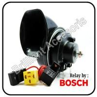 Klakson Single Keong 12v Plus Kbl Set Bosch - Untuk Sepeda Motor