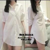Kemeja Cewek Putih / Ladies / Wanita / Blouse / Mini Dress