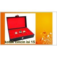 kotak cincin,kotak batu akik isi 15,batu akik,bacan,permata,giok,mulia