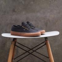 Sepatu Pria VANS AUTHENTIC BLACK SOL GUM RING GOLD PREMIUM DT BNIB ORI