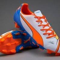 Sepatu Bola Puma evoPOWER 4.2 Pop White Orange Blue Lemon ORI