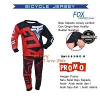 Set/ Setelan Baju Dan Celana KTM Jersey Anak- Anak Tangan Pendek