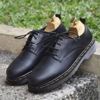 AZCOST BILSON ORIGINAL - sepatu formal pria kulit asli (black/maroon)