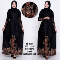 Baju dress gamis batik jumbo ld 120 motif terbaru