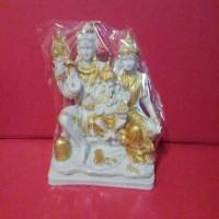 Arca Patung Dewa Siwa Keluarga,Dewi Parwati,Ganesha