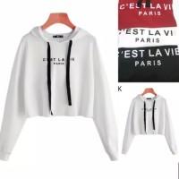 sweater tali baju hoodie wanita hoody anak anak remaja crop pendek
