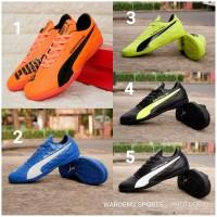 Sepatu Futsal Puma Evospeed SL Sport Shoes Black Yellow Blue Orange BW