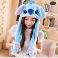Lilo Stitch Hat Tik tok - Unicorn Hat - Topi Bunny Hat bisa gerak