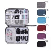 02 dompet tas kabel usb charger travel cable pouch organizer bag SLIM