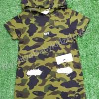 BAJU ANAK PEREMPUAN DRESS ARMY HOODIE IMPORT GOOD QUALITY - Sz12