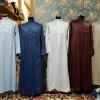 Jubah Gamis Saudi Style Haramain / Gamis pria muslim kerah / taqwa