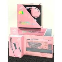 PAKET ASUS ROG PNK LTD - PINK (Mouse, Keyboard, Headset, Mousepad)