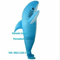 KOSTUM ANGIN BIRU IKAN HIU COSPLAY BADUT PESTA ULTAH BABY SHARK