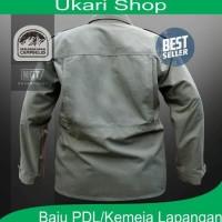 Kemeja Pdl/ Baju Lapangan Premium/Ukari - Hitam, Xl