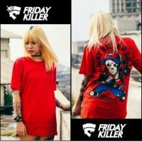 PROMO Kaos Pria Baju Distro Friday Killer