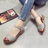 New- Gallery Shop Realpict Anne Flat Shoes Sepatu Wanita Balet Hitam