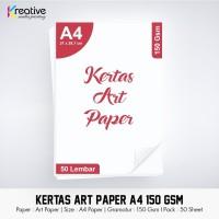 Kertas ART PAPER / A4 / 150 gsm / 1 pack = 50 lbr