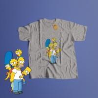 K/100 Kaos Homer Bart Marge Lisa Simpson Simpsons T-Shirt