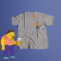 K/95 Kaos Barney Gumble The Simpson Simpsons T-Shirt - Putih, S