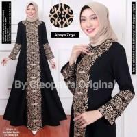 baju busana muslim abaya gamis hitam syari asdf bordir delisha