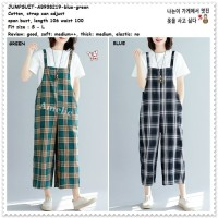 AB938219 Overall Jumpsuit Jumsuit Baju Kodok Celana Kotak Wanita Korea