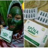 spina kapsul kecantikan masker Spirulina herbal nasa