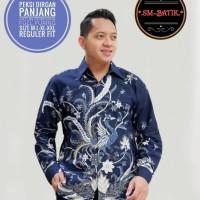 Baju Batik Pria Peksi Dirgan Reguler fit size M-XXl warna navy