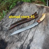pisau sembelih badik baja laduk fulltang kayu