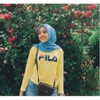Baju Atasan Kaos Lengan Panjang FILA Wanita Kubus