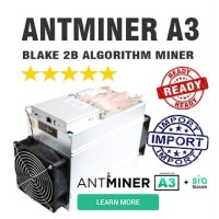 Antminer A3 Blake2b - SIA Bitmain Ready Stock - Fresh DHL